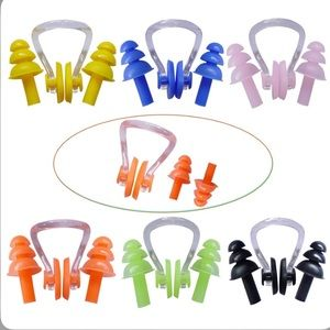 zYoung 6 Pairs Waterproof Earplugs & Nose Clips